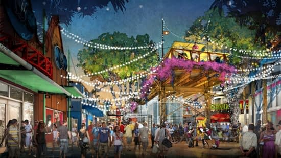 A Disney Springs é inspirada nas casas de verão da Flórida