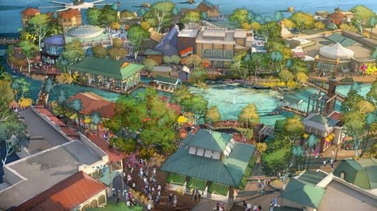 Vista aérea de Disney Springs